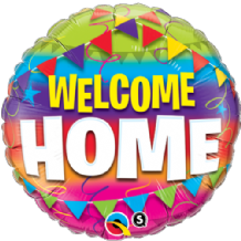 "Welcome Home Pennants Foil Balloon (18"") 1pc"